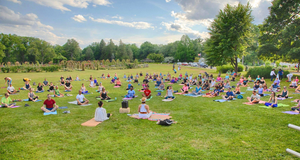 yoga in elizabeth park west hartford connecticut 2